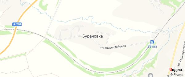 Карта деревни Бурачовки в Брянской области с улицами и номерами домов