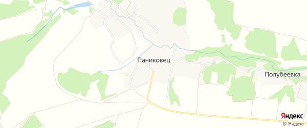 Карта села Паниковца в Брянской области с улицами и номерами домов