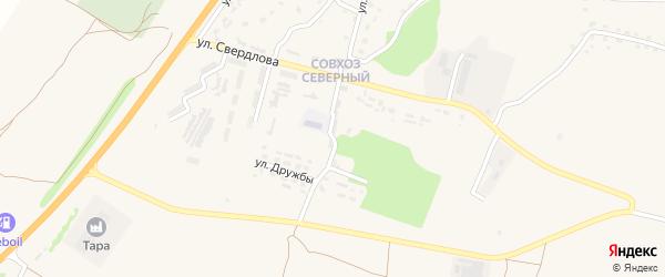 Переулок Дружбы на карте поселка Выгоничей с номерами домов