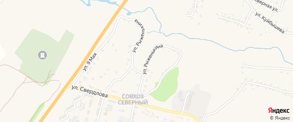 Улица Рыженькина на карте поселка Выгоничей с номерами домов