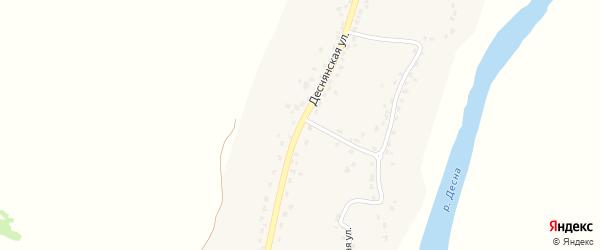Деснянская улица на карте села Лопуши с номерами домов