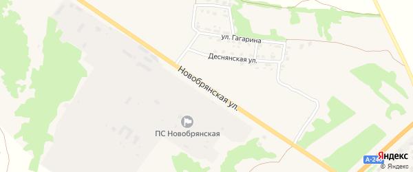 Новобрянская улица на карте поселка Выгоничей с номерами домов