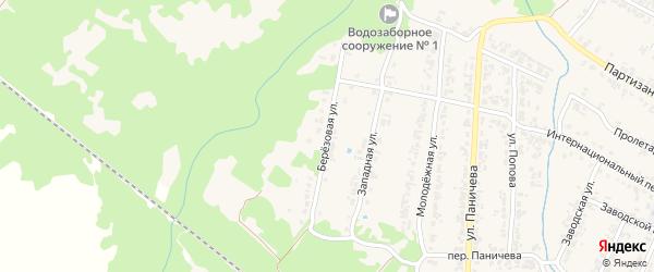 Березовая улица на карте поселка Суземки с номерами домов