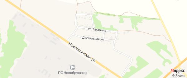 Деснянская улица на карте поселка Выгоничей с номерами домов