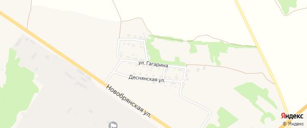 Улица Гагарина на карте поселка Выгоничей с номерами домов