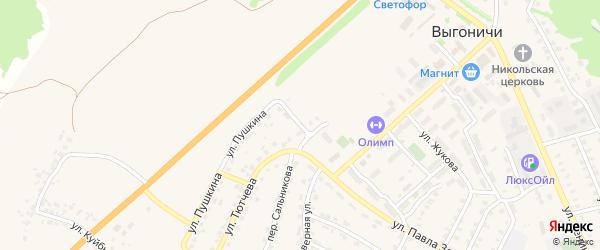 Вишневая улица на карте поселка Выгоничей с номерами домов
