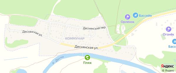 Деснянский переулок на карте Сельца с номерами домов