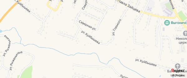Улица Куйбышева на карте поселка Выгоничей с номерами домов