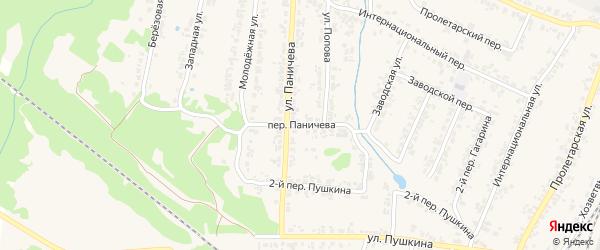 Переулок Паничева на карте поселка Суземки с номерами домов