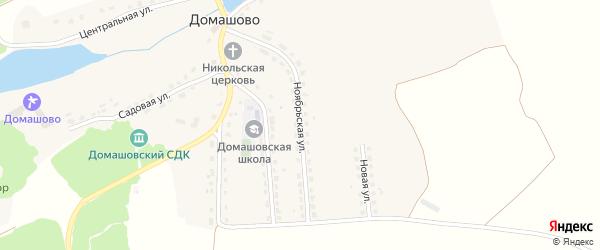 Ноябрьская улица на карте села Домашово с номерами домов