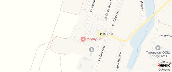 Молодежный переулок на карте деревни Титовки с номерами домов