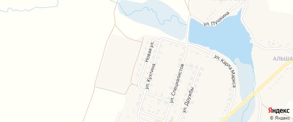 Новая улица на карте деревни Титовки с номерами домов