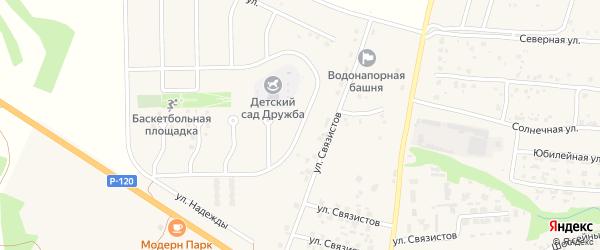 Проезд Свободы на карте села Глинищево с номерами домов