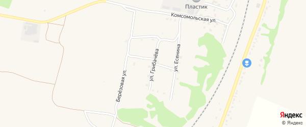 Улица Грибачева на карте поселка Выгоничей с номерами домов