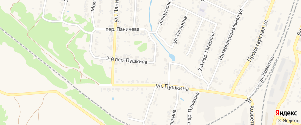 Переулок 2-й Пушкина на карте поселка Суземки с номерами домов