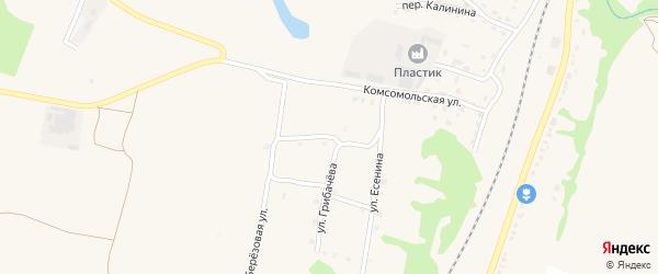 Улица 17 Сентября на карте поселка Выгоничей с номерами домов
