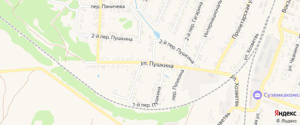Улица Пушкина на карте поселка Суземки с номерами домов