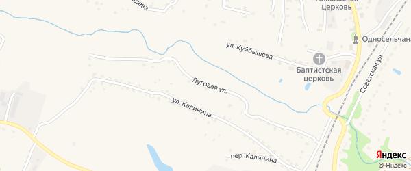Луговая улица на карте поселка Выгоничей с номерами домов