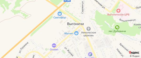Бульвар Гагарина на карте поселка Выгоничей с номерами домов