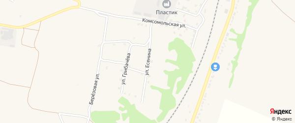 Улица Есенина на карте поселка Выгоничей с номерами домов