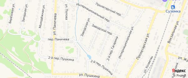 Улица Гагарина на карте поселка Суземки с номерами домов