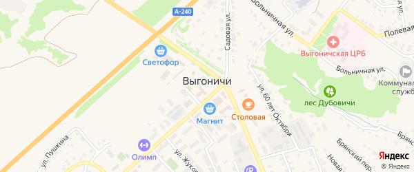 Улица Грибоедова на карте поселка Выгоничей с номерами домов
