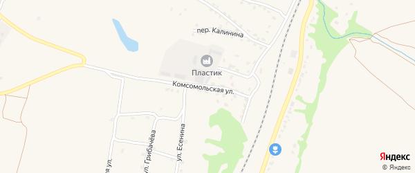 Комсомольская улица на карте поселка Выгоничей с номерами домов