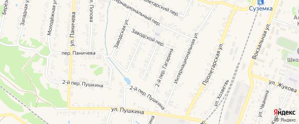 Переулок 1-й Гагарина на карте поселка Суземки с номерами домов
