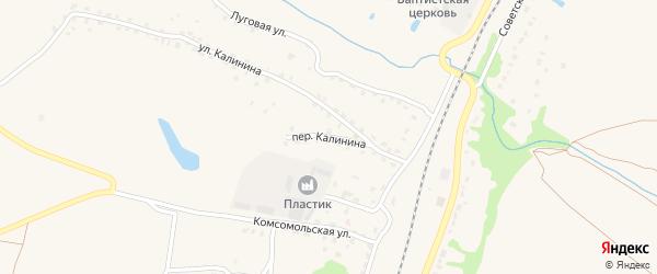 Переулок Калинина на карте поселка Выгоничей с номерами домов