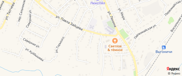 Улица Кирова на карте поселка Выгоничей с номерами домов