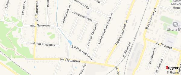 Переулок 2-й Гагарина на карте поселка Суземки с номерами домов