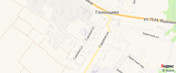 Садовая улица на карте села Глинищево с номерами домов