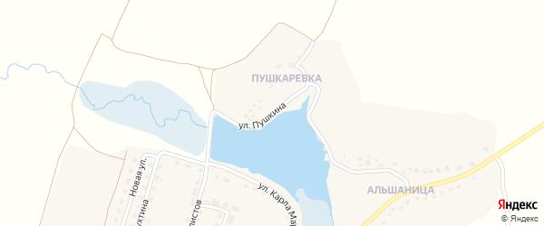 Улица Пушкина на карте деревни Титовки с номерами домов