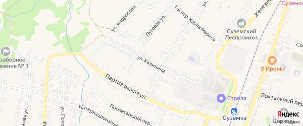 Улица Калинина на карте поселка Суземки с номерами домов