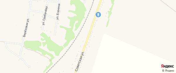 Советская улица на карте поселка Выгоничей с номерами домов