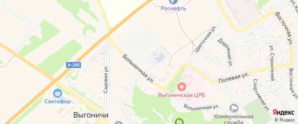 Майская улица на карте поселка Выгоничей с номерами домов