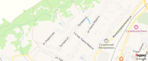 Луговая улица на карте поселка Суземки с номерами домов