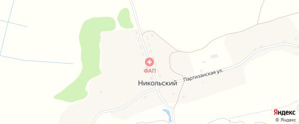Новая улица на карте Никольского поселка с номерами домов