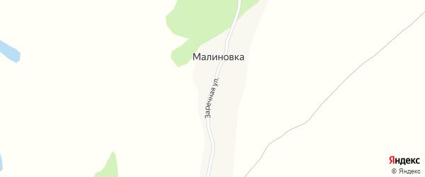 Заречная улица на карте поселка Малиновки с номерами домов