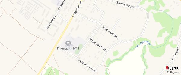 Заречный переулок на карте села Глинищево с номерами домов