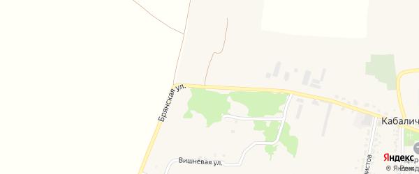 Брянская улица на карте села Глинищево с номерами домов