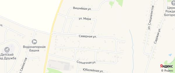 Северная улица на карте села Глинищево с номерами домов