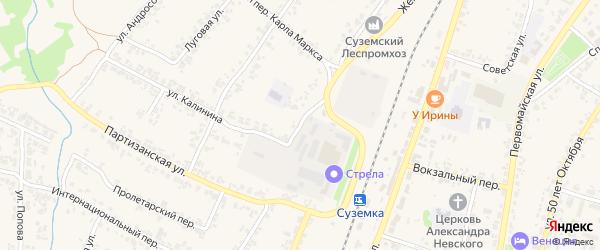 Интернациональная улица на карте поселка Суземки с номерами домов