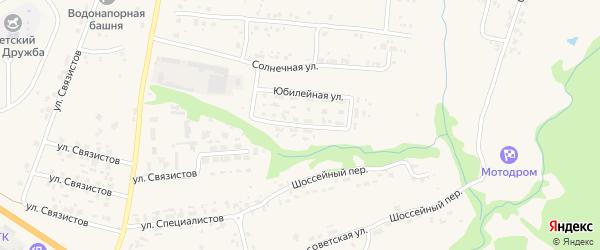 Юбилейная улица на карте села Глинищево с номерами домов