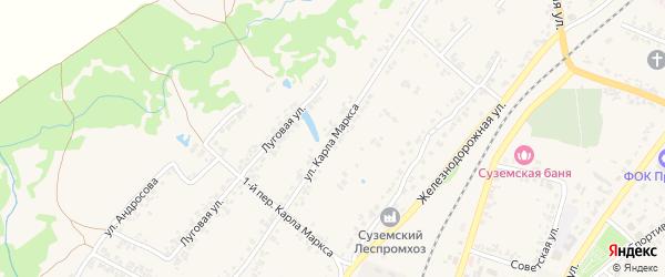 Улица Карла Маркса на карте поселка Суземки с номерами домов