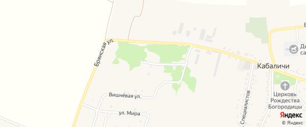 Улица А.В.Лебедевой на карте села Глинищево с номерами домов