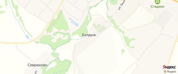 Карта деревни Балдыжа в Брянской области с улицами и номерами домов