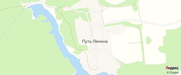 Садовая улица на карте поселка Путь Ленины с номерами домов