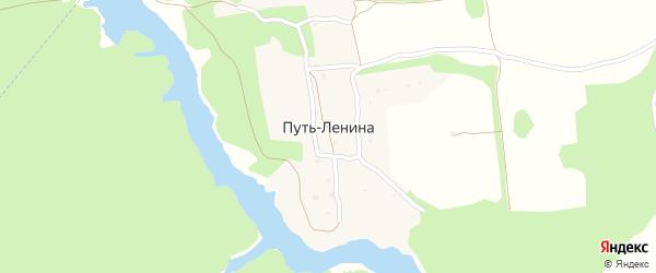 Луговая улица на карте поселка Путь Ленины с номерами домов