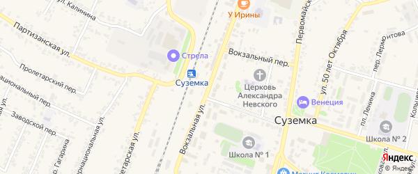 Вокзальная улица на карте железнодорожной станции Неруссы с номерами домов